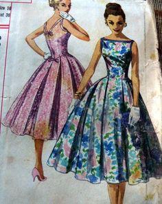 LOVELY VTG 1950s DRESS Sewing Pattern 16/36 in Women   eBay