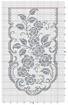 Annie's Crochet, Crochet Doily Patterns, Thread Crochet, Filet Crochet, Crochet Doilies, Crochet Stitches, Embroidery Patterns, Crochet Curtains, Crochet Tablecloth
