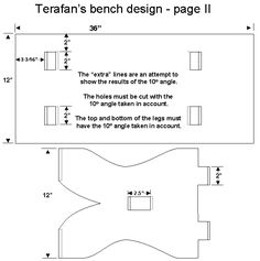 Medieval Bench plans and photos