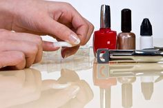 The Pro Guide To Applying Fake Nails - Applying Nail Glue, And Then Glue On Your Fake Nails One By One