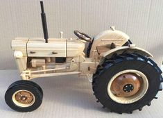 Fordson Super Dexta wooden model (third one) - Woodworking creation by Dutchy Woodworking Toys, Woodworking Projects, Wooden Toy Trucks, Wood Plane, Wood Toys Plans, Wooden Bow, Stuffed Toys Patterns, Toys For Boys, Handmade Toys