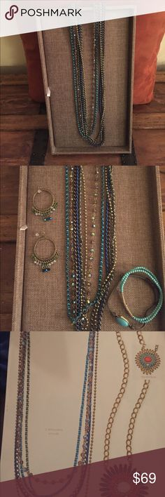 "Premier Designs Cape Cod Necklace Premier Jewelry Cape Cod Necklace.  2 strands are removable.  34 3/4- 40 1/2"".  I have the Premier Earrings and the BFF bracelet in other auctions.  Get all three and get 10% off. Premier Designs Jewelry Necklaces"