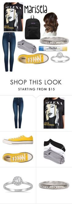 """Me"" by peggy-hamilton on Polyvore featuring Pieces, Forever 21, Converse, adidas, Chapstick, Marquee Jewels and JanSport"