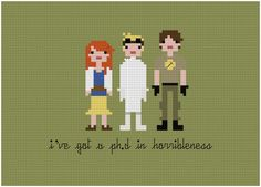 Pixel People  Dr. Horrible's Sing Along Blog  by weelittlestitches, $5.00