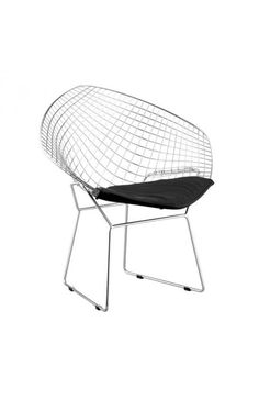 Net Dining Chair Black- 188020Description :The Net dining chair is 100% solid chrome and has two cushion choices: black or white.Features:-Color :BlackProduct Cover (Upholstery Material or Type of Metal) :LeatheretteProduct Finish (Structure Materiel or Type of Wood) :Chromed SteelDimensions :Dining Chair : 32.50