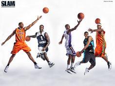 2009 SLAM High School All-Americans Xavier Henry, Kansas; Lance Stephenson, Undecided; John Wall, Kentucky; Derrick Favors, Georgia Tech; DeMarcus Cousins, Kentucky.