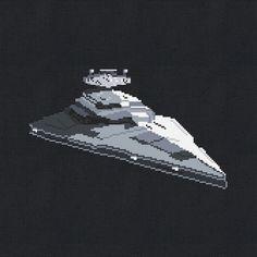 Star Destroyer Star Wars Spaceship Cross Stitch by Stitchering