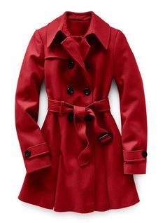 I really like the red wool trench, but this particular one only goes up to 14.  I think I need a 16(???)