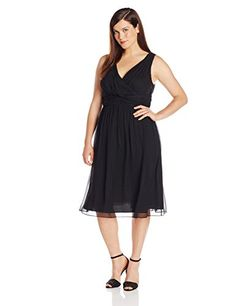 """Product review for Donna Morgan Women's Plus-Size Sleeveless V Neck Jessie Dress.  - V-neck chiffon with straps       Famous Words of Inspiration...""""A typical vice of American politics is the avoidance of saying anything real on real issues.""""   Theodore Roosevelt — Click here for more from Theodore..."""