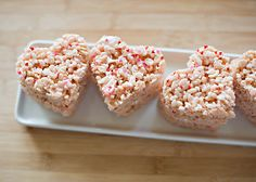 heart rice krispie treats- we made these for Jackson to take to Preschool tomorrow.  I just couldn't resist having SOMETHING homemade for him to take!