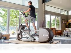 Precor EFX 5.37 integrates beautifully into your home and makes working out easier to prioritize!