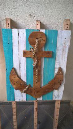 """Quadro """"âncora"""" - decoração estilo praia"""