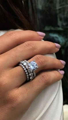 Round Solitaire Engagement Ring, Dream Engagement Rings, Stacked Engagement Ring, Solitaire Rings, Diamond Rings, Stacked Wedding Rings, Ring Set, Eternity Ring, Wedding Bands
