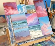 What is Your Painting Style? How do you find your own painting style? What is your painting style? Is there a way to make sure you have it? Cute Canvas Paintings, Small Canvas Art, Mini Canvas Art, Face Paintings, Aesthetic Painting, Aesthetic Art, Aesthetic Women, Aesthetic Pictures, Aesthetic Clothes