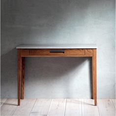 one drawer Shaker style console Table of solid cherry Console