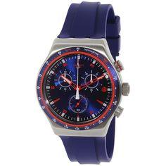 Swatch Men's Irony YVS417 Blue Rubber Swiss Quartz Watch