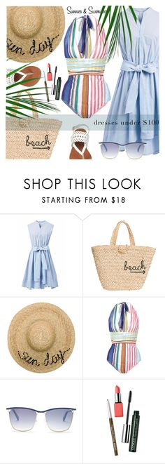 """Summer dresses under $100"" by jan31 ❤ liked on Polyvore featuring Chicwish, Hat Attack, Eugenia Kim, Missoni Mare, Balmain and Clinique"