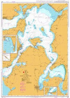 British Admiralty Nautical Chart 427: Mors to Logstor