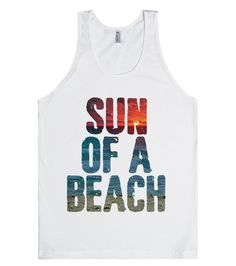 Show off your love for the beach in a sassy way with this shirt. This makes the perfect tank to wear over your suit to the beach. This makes a great gift for your favorite ocean lover! #Summer