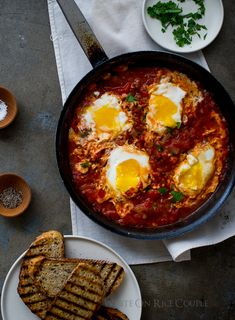 Poached Eggs in Tomato Sauce, On Toast {make this now}