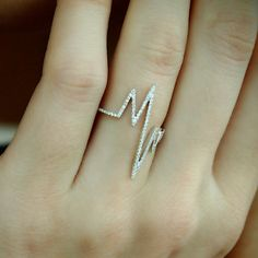"""EKG"" Diamond Ring (White) - Plukka - Shop Fine Jewelry Online"