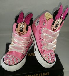 6f3b7e36b013 Girls Custom Converse- Kids Converse- Bling Converse- Minnie Mouse Converse-  Paw Patrol- Emoji- Doc Mcstuffins- Birthday Sneakers- Shoes