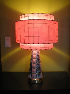 Made to Order Mid Century Vintage Style 3 Tiered Fiberglass Lamp Shade Custom Retro Atomic. $89.00, via Etsy.