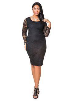 63b49720ef3 Ashley Stewart Keyhole Back Lace Middi Dress Best Party Dresses