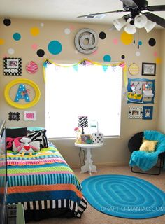 A Little Girls Colorful Bedroom