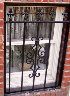 Decorative Stationary Window Guard http://gateforless.com/product-category/security-bar/residential-windows/