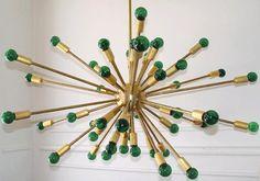 Vintage brass Sputnik chandelier.