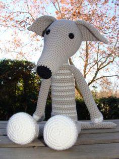 Crochet Greyhound by Andrea from Spain; $52 | Galgo hilo 100% algodón,relleno algodón sintetico,ojos safeti tejido con la técnica de,los amigurumis