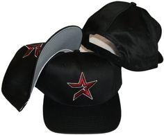 Houston Astros Vintage Retro Red Star Plastic Snapback Adjustable Snap Back Hat / Cap New Era. $39.99