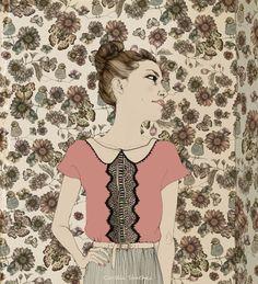 Vintage Girl by Cecilia Sánchez