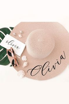 Personalized sun hats make a practical and stylish gift for your bachelorette party weekend or honeymoon! Each hat is available in white or tan and text of your choice on top of the brim in a pretty b Bachelorette Party Planning, Beach Bachelorette, Bachelorette Party Gifts, Bachelorette Party Decorations, Bridal Shower Gifts, Fashion Black, Black Girls, Fashion Hats, Fashion Trends