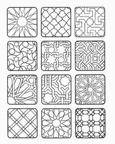 New Geometric Art Diy Canvas Colour 42 Ideas Geometric Patterns, Geometric Designs, Tile Patterns, Geometric Art, Pattern Art, Canvas Patterns, Islamic Art Pattern, Arabic Pattern, Diy Canvas