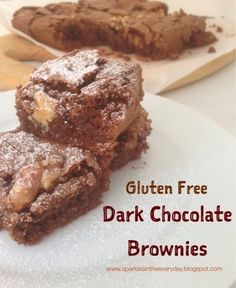 Dark Chocolate Gluten Free Brownies!!