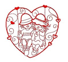 Enchanted Love Set - 3 Sizes! | Valentine's Day | Machine Embroidery Designs | SWAKembroidery.com Sealed With A Stitch