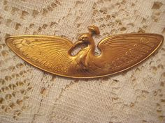 1 Vintage Stamped Brass Egyptian Peacock Topper by StarPower99, $6.50 SOLD