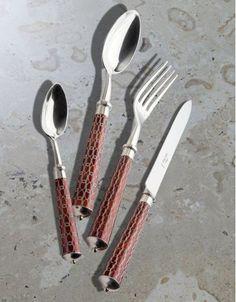 "Model ""Elena"" color : Ecaille Cutlery / Flatware by Alain Saint-Joanis"