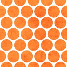 orange polka dots Art Print by her art
