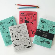 Whoopee! I have a new notebook set out with @themuseumofmodernart // they are part of my Things I Saw & Loved at MoMA series for the Museum Store // these notebooks (in brand spanking new colors) feature my drawings of some of my favorite items from the MoMA design collection // I've got a few in my shop or you can get them directly through the MoMA Store (info & links on my blog link to my blog in profile) by lisacongdon