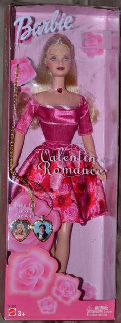 Barbie Valentine Romance Barbie Doll with locket for you NIB #Mattel #Dolls