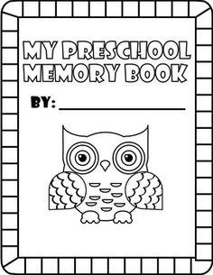 Preschool or Pre K end of the year memory book