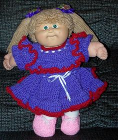 Cabbage Patch Dress I crocheted.