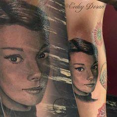 Awesome #tattoo portrait by Codey Doran