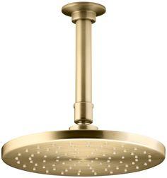 KOHLER K-13688-BGD 8-Inch Contemporary Round Rain Showerhead, Vibrant Moderne Brushed Gold - Fixed Showerheads - Amazon.com