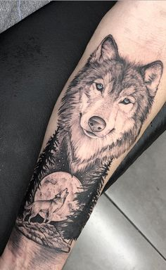 Wolf Tattoos 87427 Can You Tell If It Is Fabric Or The Skin? These Colorful Sleeve Tattoos Will Blow Your Mind. Stunning sleeve tattoos for both, men and women, that are perfect to complement your outfit. Wolf Sleeve, Wolf Tattoo Sleeve, Best Sleeve Tattoos, Sleeve Tattoos For Women, Tattoo Sleeve Designs, Tattoo Designs Men, Body Art Tattoos, Cool Tattoos, Circle Tattoos
