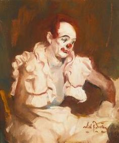 William Frederick Foster - Clown Posed By Leon Franks