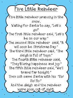 Reindeer Poem Freebie